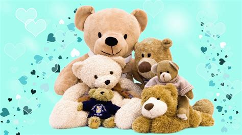 full hd video teddy bear teddy bear family lovely 1080p full hd wallpaper wp1209826