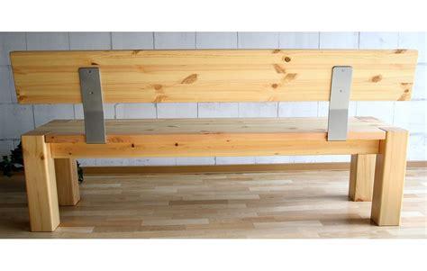 massivholz sitzbank 180cm mit r 252 ckenlehne holzbank lehne