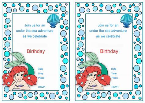 free printable birthday invitations little mermaid little mermaid birthday invitations birthday printable