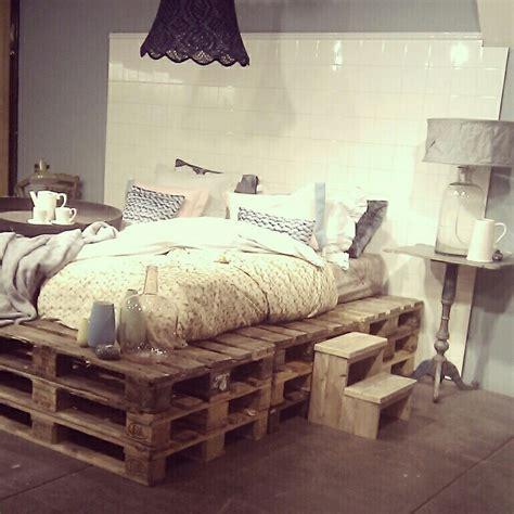 Wood pallet bed frame plans glass bottles tea pot upcycled diy lamp