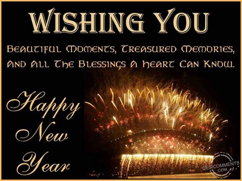 wishing you a happy blessed new year wishing you beautiful moments treasured memories and all the blessings pictures photos