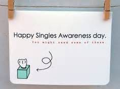 anti valentine card single awareness day card funny