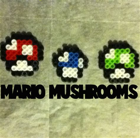 how to make perler how to make mario mushrooms from mario bros with