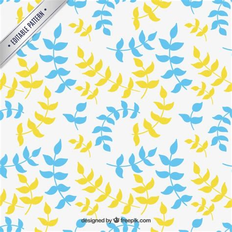 yellow pattern ai blue and yellow leaves pattern vector premium download