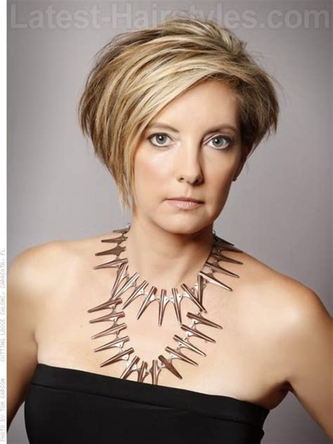 Asymetrical Short Hair Styles For Older Women | short asymmetrical haircuts for women