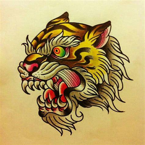 traditional tattoo tiger tattoo ideas pinterest