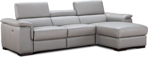 light gray leather sectional alba light gray premium leather power reclining raf