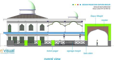 desain pagar dan gapura masjid pagar dan gapura masjid 171 sketch s blog