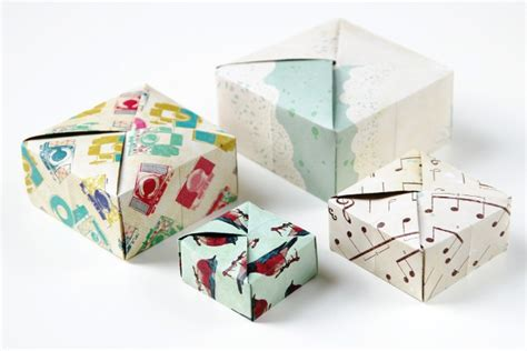 Origami Square Box - diy square origami box gathering
