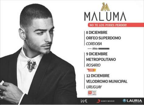 entrada para maluma argentina 2016 maluma concierto diciembre 2016 argentina concierto de