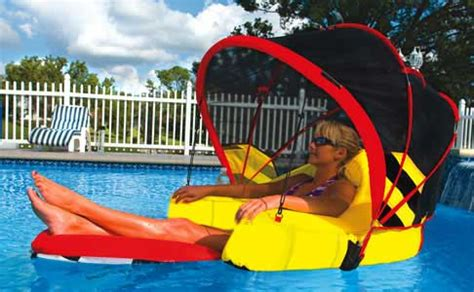 Floating Lounge Chair With Umbrella by River Rafting Cabriolet Swimming Pool Lounger With Canopy