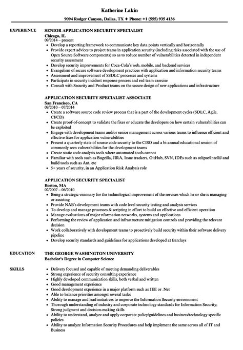 Hipaa Security Officer Sle Resume by Application Security Resume Resume Ideas
