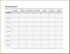 hourly calendar template editable hourly calendar template 2016