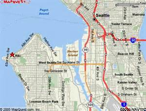 West Seattle Parks Map by Seattle Bicycle Club Alki Bakery