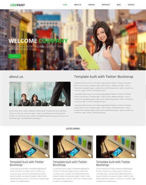 templates for official website 12 company website templates free premium templates