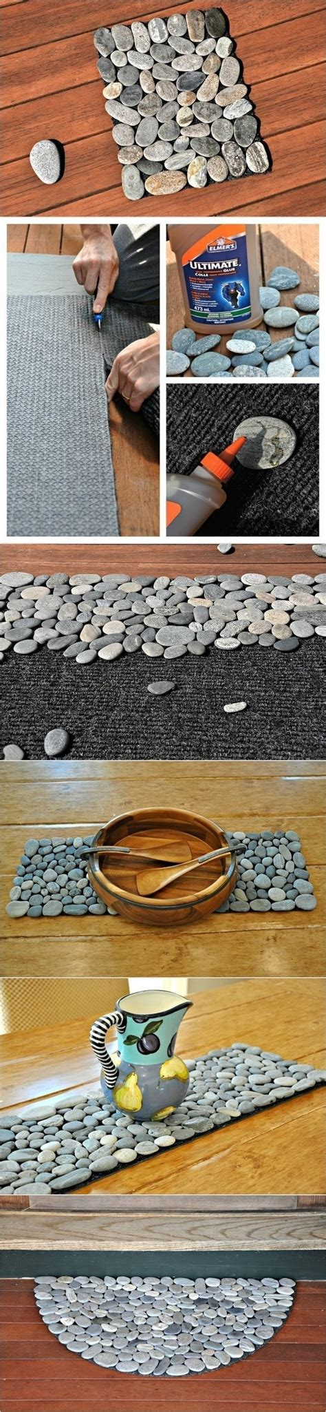 diy spa inspired pebble bath mat
