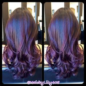 black plum hair color plum hair color with highlights brown hairs