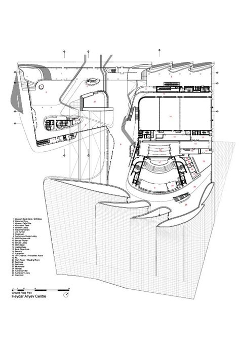 zaha hadid floor plans heydar aliyev center zaha hadid architects floors
