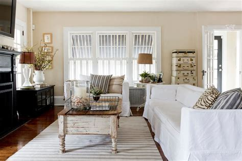 Casual Cottage Chic by Casual Family Room Shabby Chic Style With Shutters