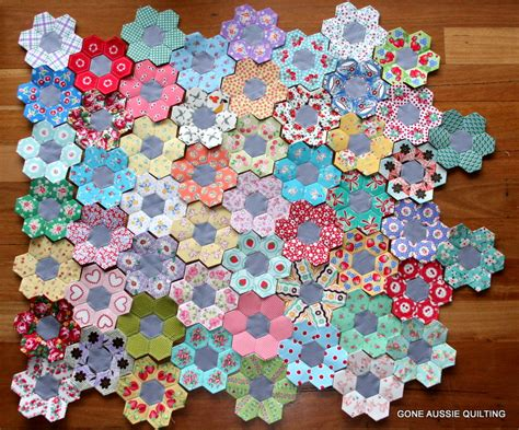 pattern flower english gone aussie quilting more english paper piecing