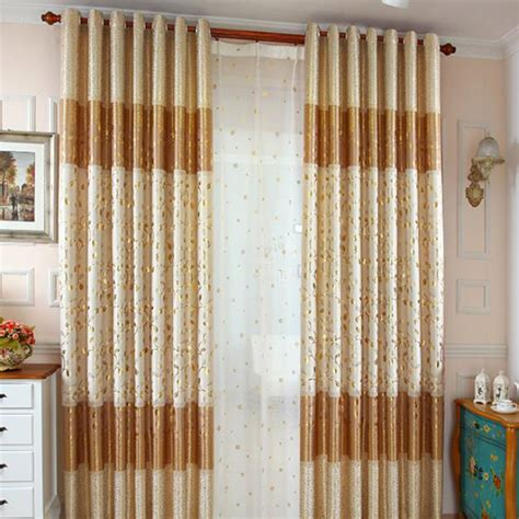 light gold curtains light gold leaf print polyester country color block