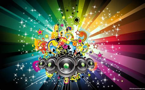 wallpaper colorful music music speakers wallpaper