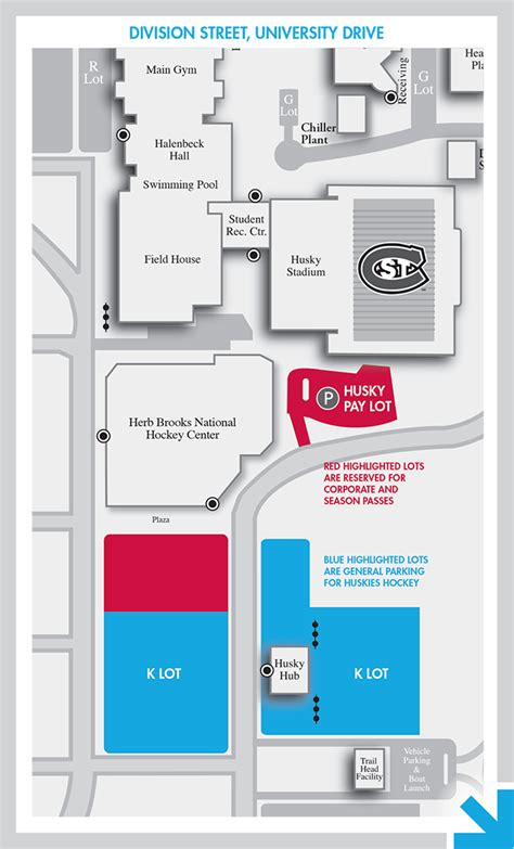 Scsu Mba Program by Cus Map Parking Huskies Hockey St Cloud State