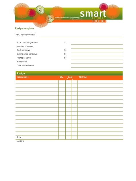 Template For Recipes In Word by Recipe Template 4 Free Templates In Pdf Word Excel