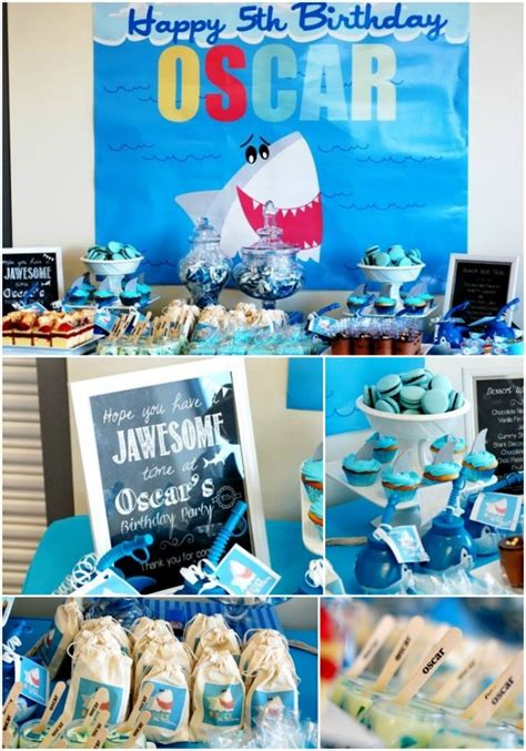 boy birthday party decorations a boy s shark themed pool party spaceships and laser beams