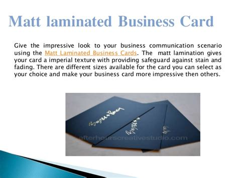 how to make laminated cards matt laminated business card