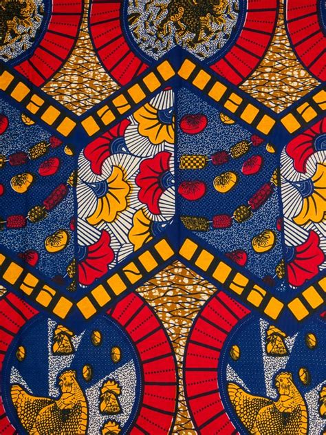 pattern african fabric african fabric designs real wax blue red yellow leaves