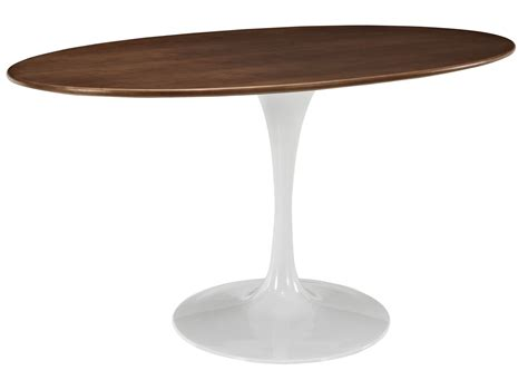 walnut tulip dining flower tulip oval dining walnut home and office