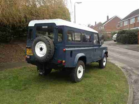 purchase used land rover defender diesel 110 1986 8 seater