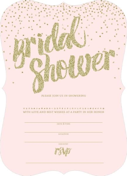 blank bridal shower invitations badbrya com