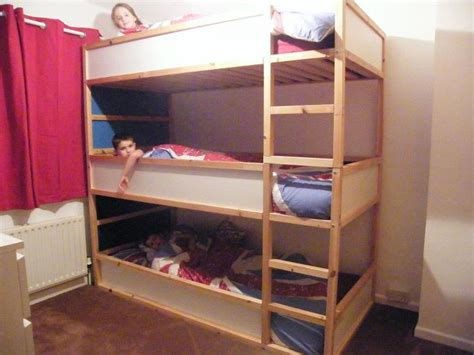 triple bunk beds ikea space saving kids triple decker beds ikea hackers