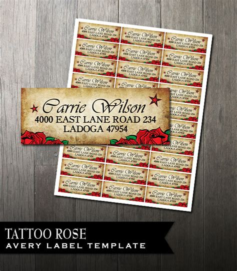 printing mailing labels using pages tattoo rose address labels diy avery labels for printing