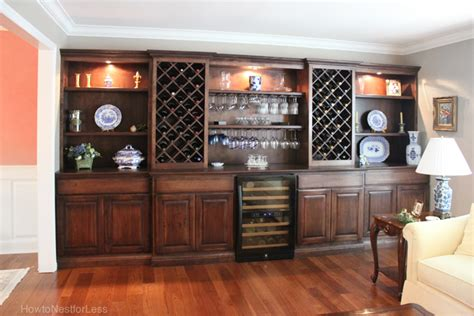 wall storage room living room wine cabinet built ins how to nest for less