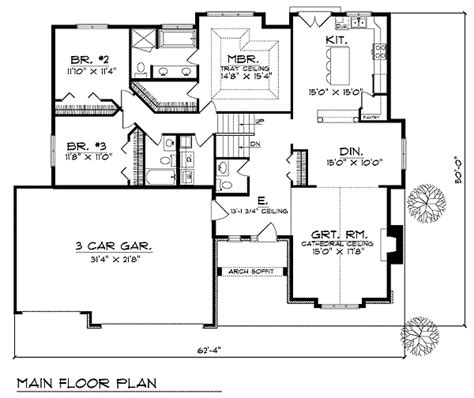 basement entry floor plans plan w89495ah spacious great room design e