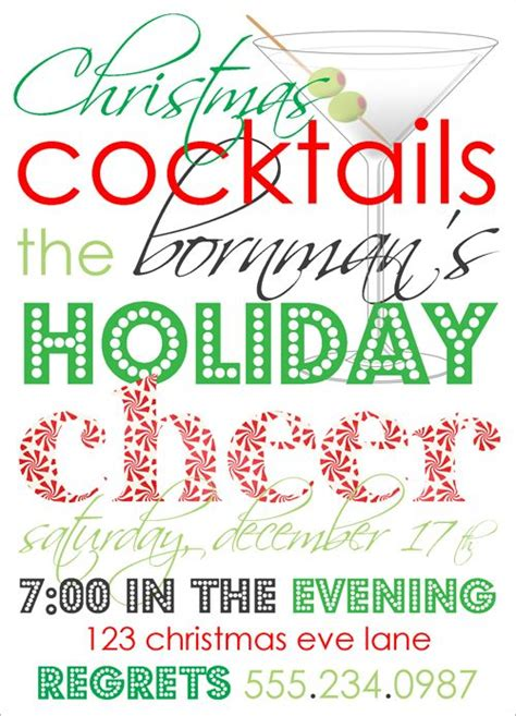 christmas cocktails invite 17 best images about christmas cocktail party on pinterest