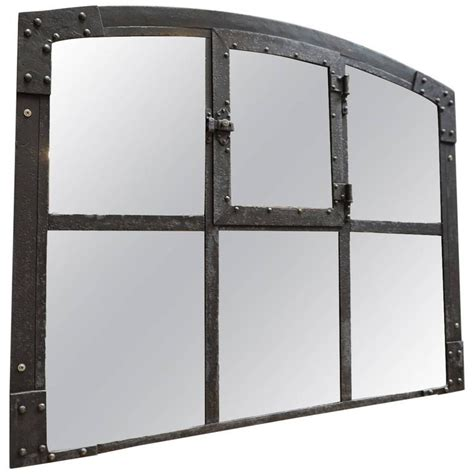 industrial mirror riveted iron factory window 1900 in industrial mirror at