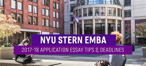 Nyu Mba Program Deadlines by Nyu Executive Mba Essay Tips Deadlines The Gmat Club
