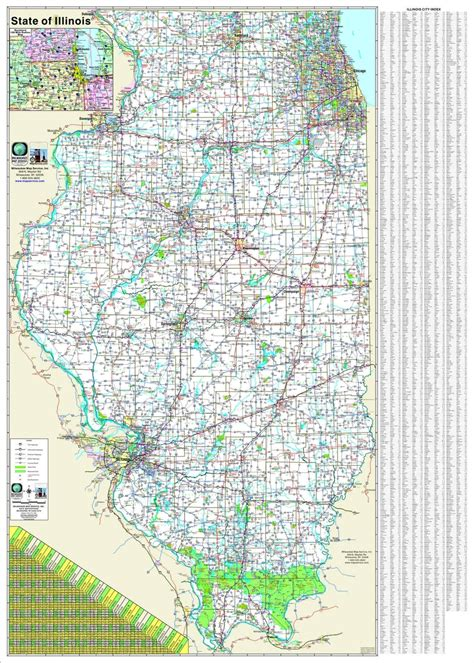 illinois state map themapstore illinois state highway wall map