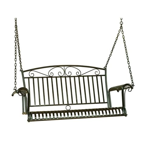 iron porch swing 4 foot iron porch swing 3493
