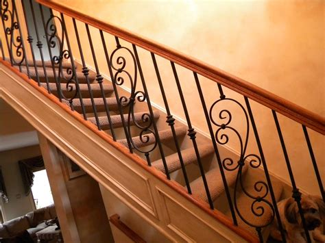 Replace Banister Wood Stairs And Rails And Iron Balusters Install Iron