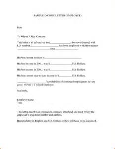 11 income proof letter sample lease template