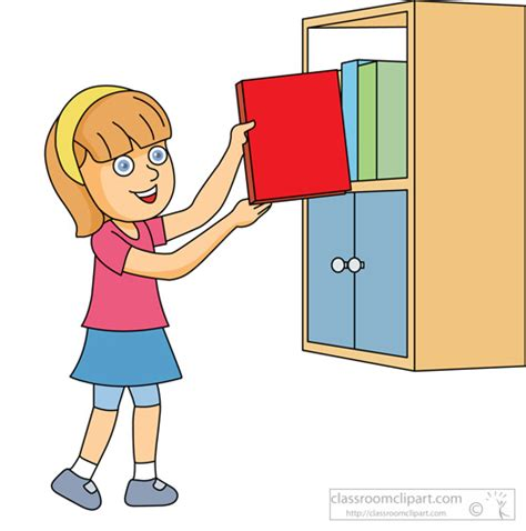 Put The Book Back On The Shelf by Book Clipart Clipart Girl Putting Book On Shelf
