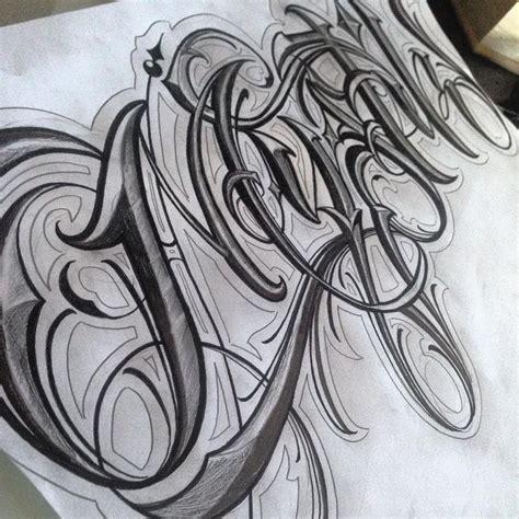 gangster lettering tattoo designs letras lettering letterhead customlettering