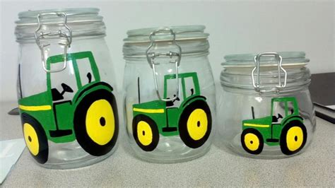 john deere kitchen canisters john deere tractor canister set house stuff i wish i had