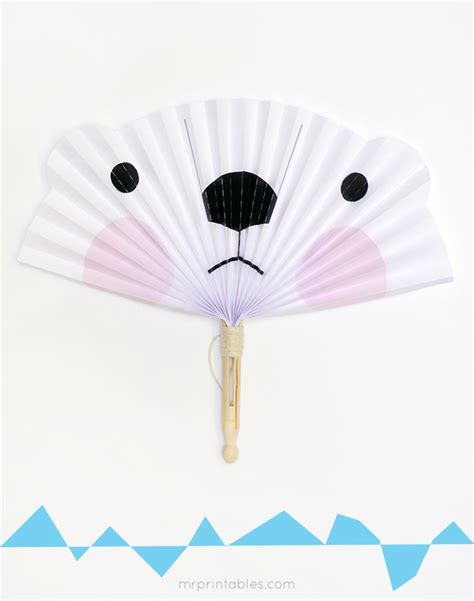 Paper Fan Craft For - printable polar template search results calendar 2015