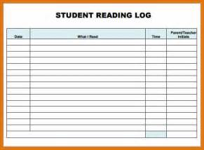 reading log template letter format business
